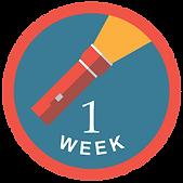 Week One Sticker