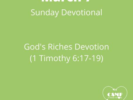 Week 4: God's Riches