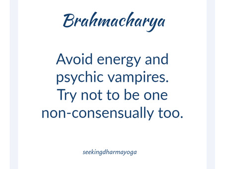 August theme: Brahmacharya