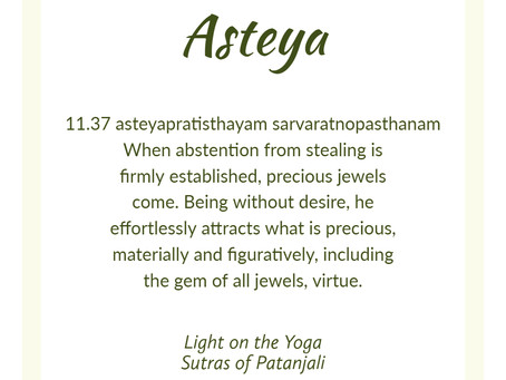 July theme: Asteya