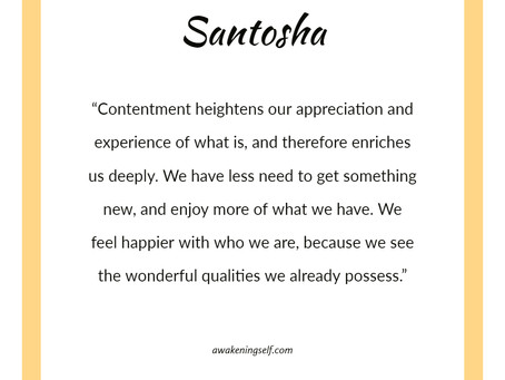 September theme: Santosha
