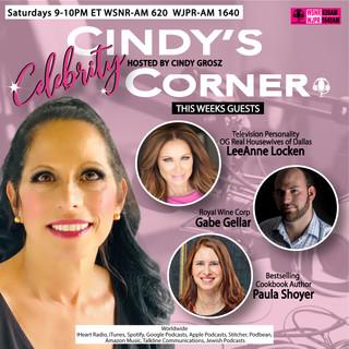 Cindy's Celebrity Corner with Guests LeeAnne Locken Gabe Gellar of Royal Wines and Bestselling Cookbook Author Paula Shoyer