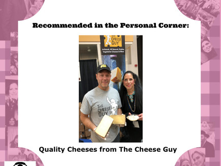 Cindy's Personal Corner Picks The Cheese Guy Cheeses