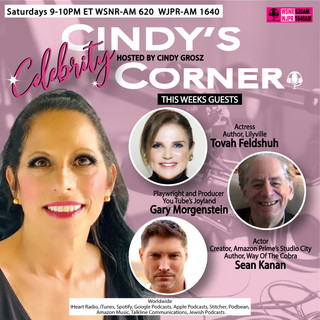 Cindy's Celebrity Corner Featuring Tovah Feldshuh, Gary Morgenstein and Sean Kanan