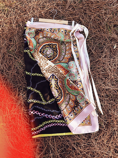 Antonella silk apron skirt_01
