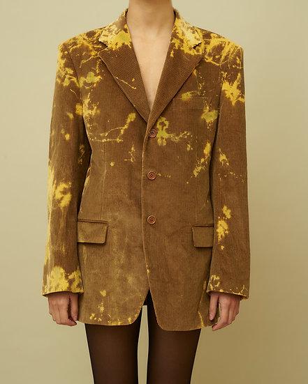 Tie Dye Velvet Jacket_beige/yellow