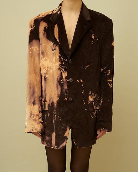 Tie Dye Velvet Jacket_brown/peach