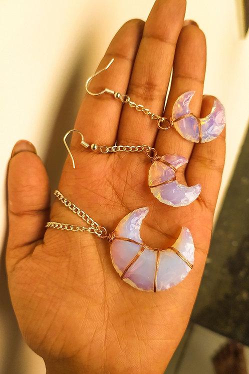 Opalite Crystal Moon Set