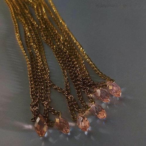 Pink Suncatcher Crystal Necklace