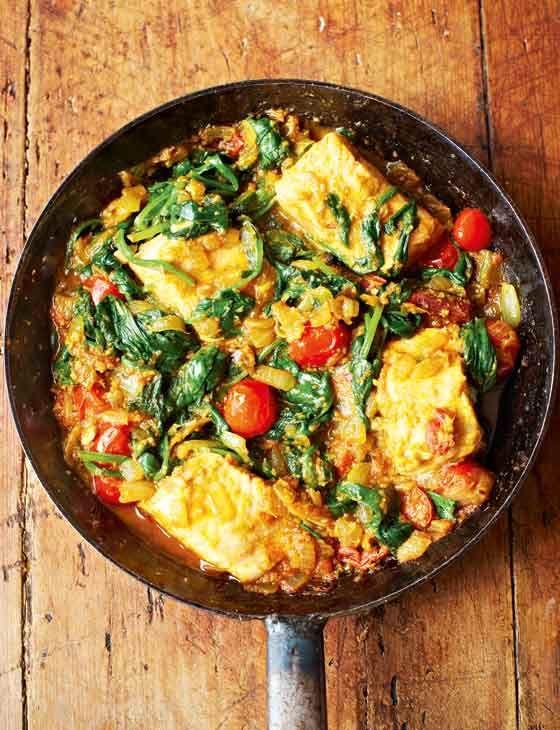 Cod curry healthy dinner idea