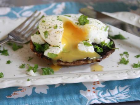 Easy but skinny mushroom and egg brunch