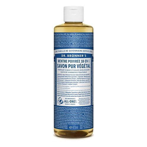 Dr. Bronner's Sapone Liquido Menta 475 ml.