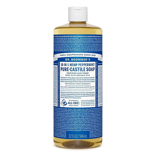 Dr. Bronner's Sapone Liquido Menta 945 ml.