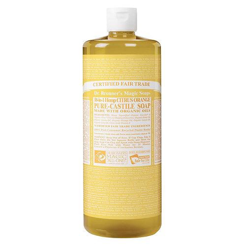 Dr. Bronner's Sapone Liquido Agrumi Arancia 945 ml.