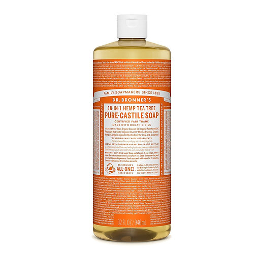 Dr. Bronner's Sapone Liquido Tea Tree 945 ml.