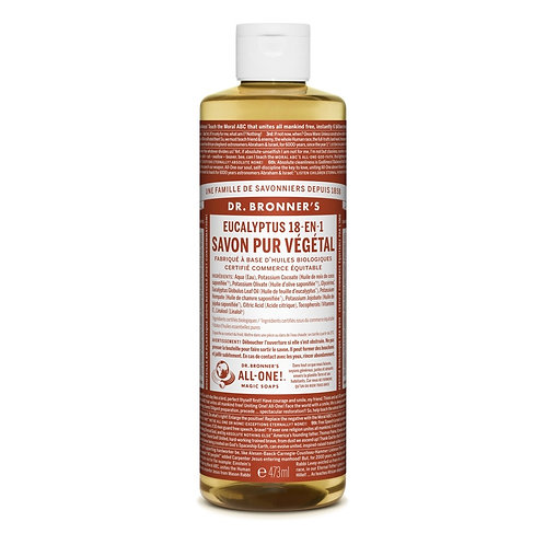 Dr. Bronner's Sapone Liquido Eucalipto 475 ml.