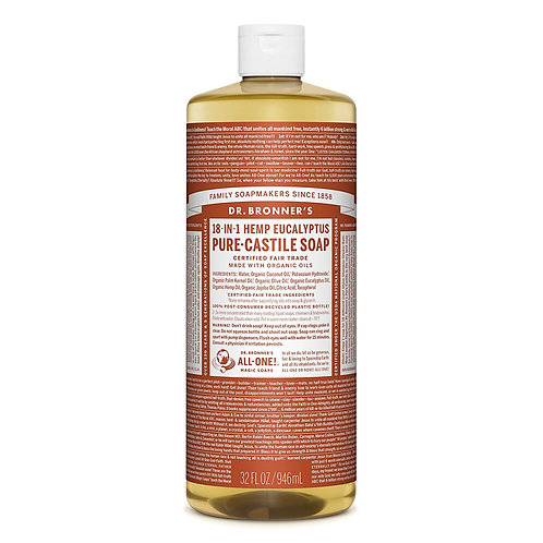Dr. Bronner's Sapone Liquido Eucalipto 945 ml.