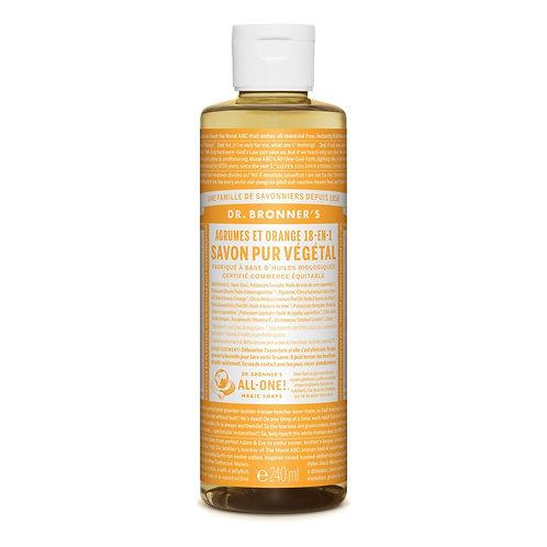 Dr. Bronner's Sapone Liquido Agrumi Arancia 475 ml.
