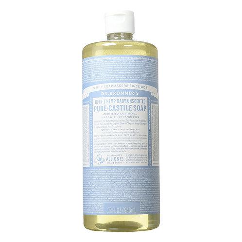 Dr. Bronner's Sapone Liquido Neutro Delicato 945 ml.