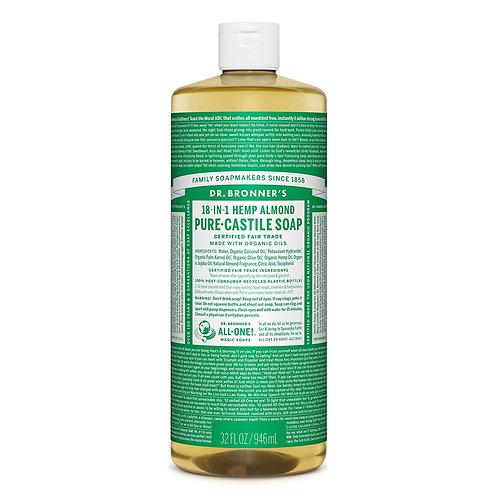 Dr. Bronner's Sapone Liquido Mandorle 945 ml.