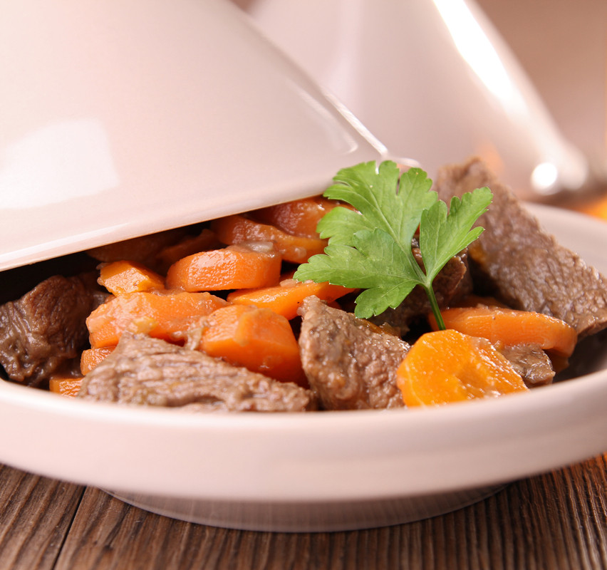 Boeuf aux carottes et Tagine