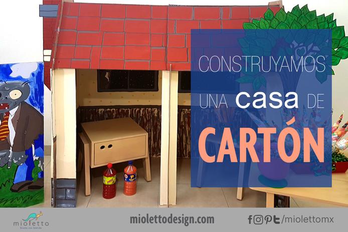 ¡Construyamos una casa de cartón!