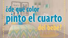 ¿De qué color pinto el cuarto de mi bebé?