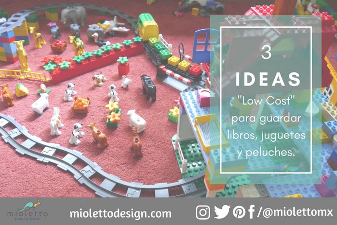 """¿Desorden en vacaciones? 3 ideas """"low cost"""" para guardar libros, juguetes y peluches, rápi"""