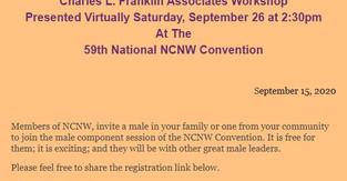 Charles L. Franklin Associates Workshop Presented Virtually Saturday, September 26
