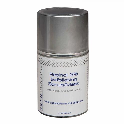 Skin Script Retinol 2% Exfoliating Scrub/Mask 1.7oz