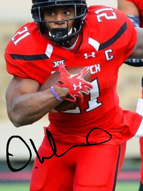 DeAndre Washington Autographed Texas Tech 8X10 Photo