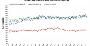 Hospital capacity in Dallas on Oct. 18