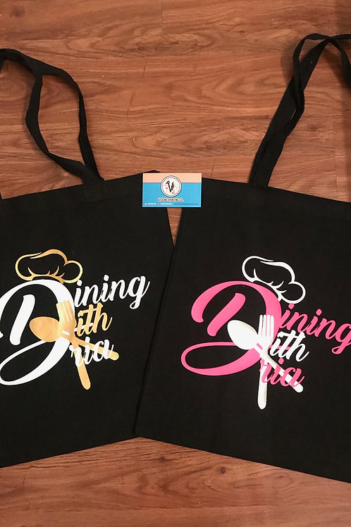 Dining with Dria Reusable Tote Bags