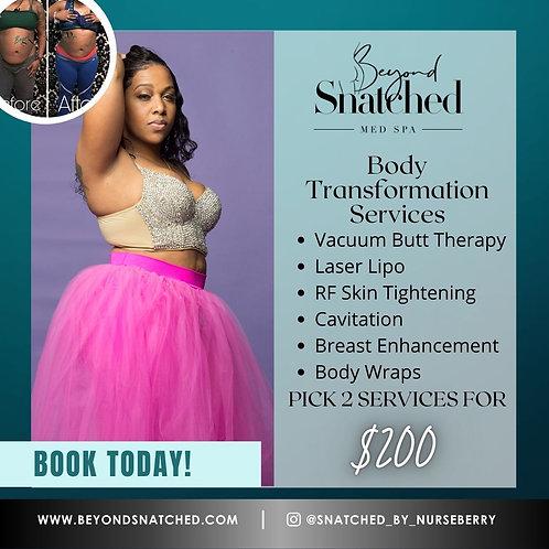 Pick 2 Body Transformation Services