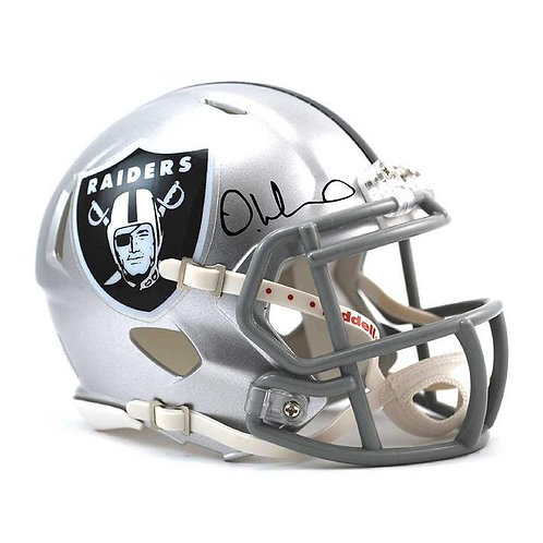 DeAndre Washington Autographed Raider Helmet