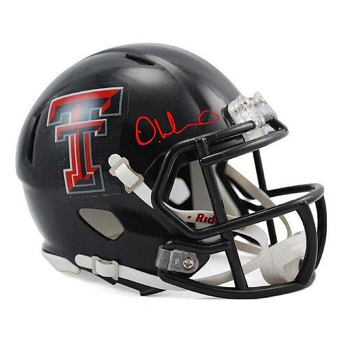 DeAndre Washington Autographed Texas Tech Mini Helmet