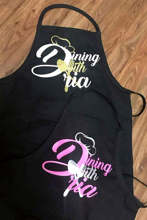 Dining with Dria Aprons