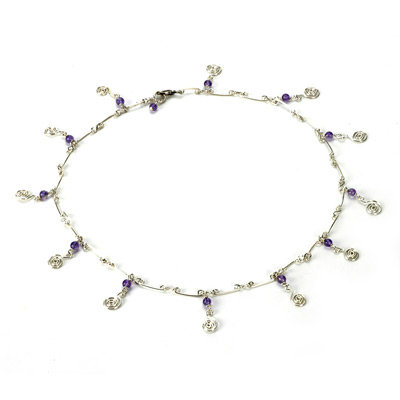 Amethyste Mini Swirls Necklace