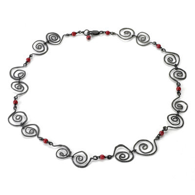 Coral Swirl Necklace