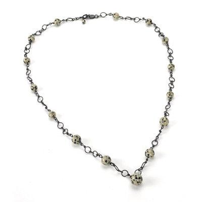 Jasper Circle Necklace