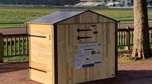 Cabanes en bois valorisé pour les biodéchets des caennais