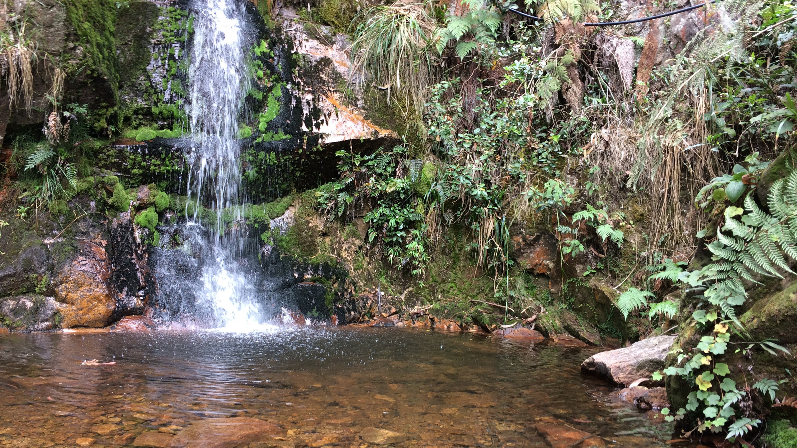 waterfall in Las Delicias