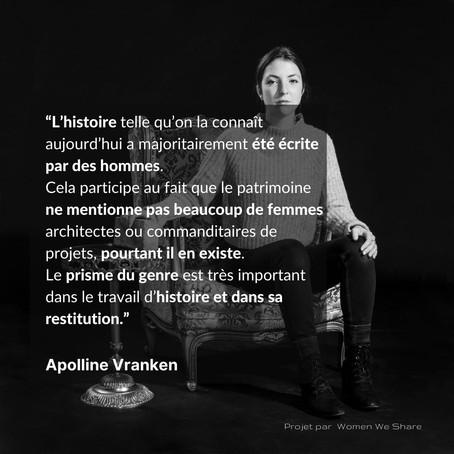 Women we share Apolline Vranken