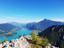 Ausblick von der Drachenwand auf den Schafberg © salzkammergut.at