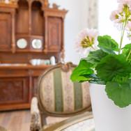 Salon mit Kaffee-, Teebar und Spielen, Heritage Boutique Apartments Bad Ischl