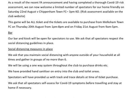 Information for spectators-Chippenham Town FC game