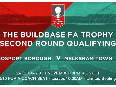 FA Trophy Game- 9th November