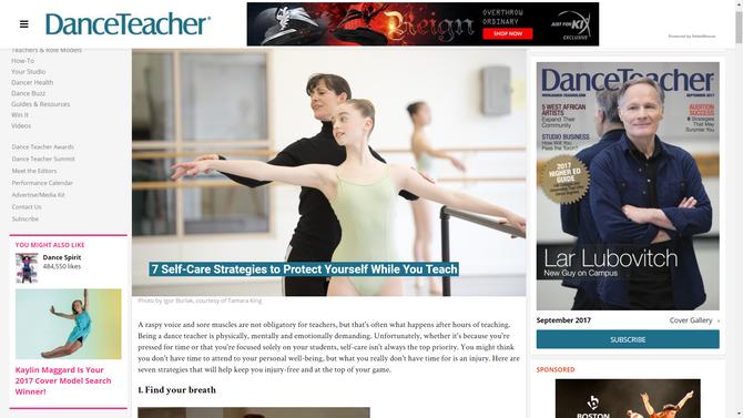 Catey Ott Interviews with Dance Teacher Magazine