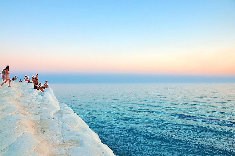 scala dei turchi alba e tramonto