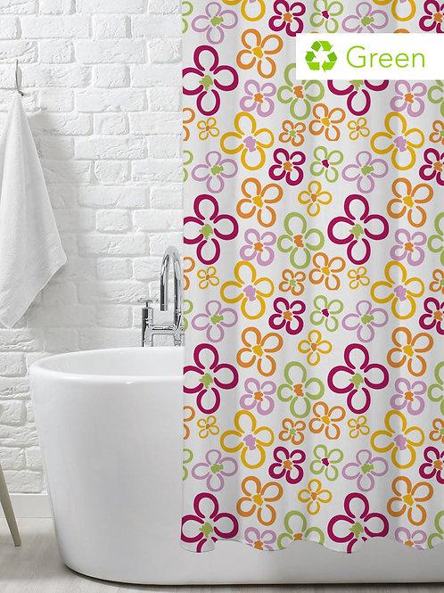 Tenda ecologica per doccia in PEVA disponibile in 6 colori